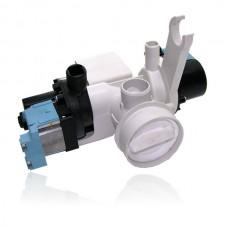 Afvoerpomp en circulatiepomp compleet voor AEG wasmachines - met filterhuis