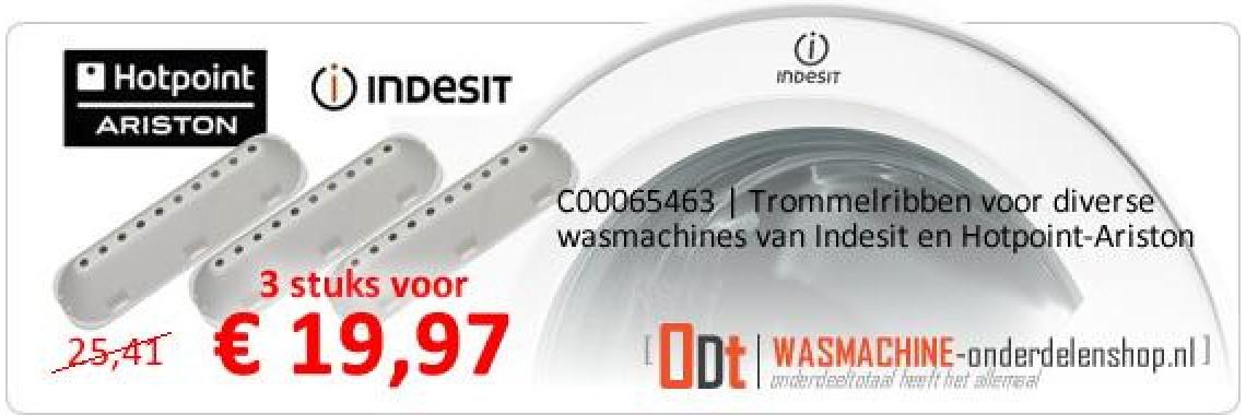 C00065463 | Trommelribben voor Indesit en Ariston wasmachine
